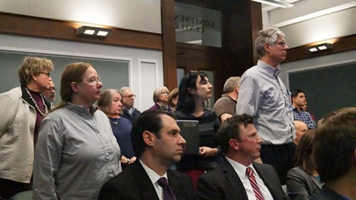 Ohio City residents stand to offer testimony.