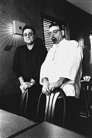 Owner Mike Ina and Chef Victor Gentile, sharing a light moment. - WALTER  NOVAK