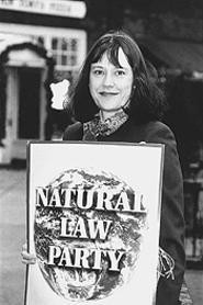 Party on: Natural Law state chair Zanna Feitler. - WALTER  NOVAK