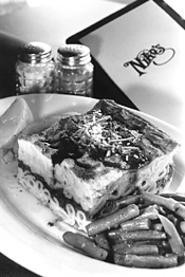 Pastitsio, one of Niko's many specialties. - WALTER  NOVAK