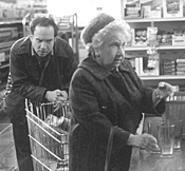 Paul Giamatti as Harvey, bugged by a little old lady.