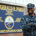 Photo of the Day: Petty Officer Dameon Smith from Cleveland Aboard USS Gerald R. Ford