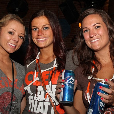 Photos of Clevelanders Celebrating Yesterday's Cleveland Browns Win on West 6th Street
