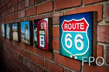 DAVIDSCHWARTZPHOTO.COM - Pics On Route 66 Wood Panel Collage Prints