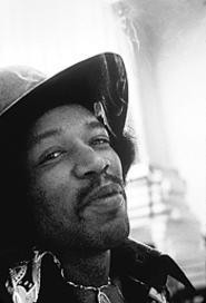 Pictures of Jimi: A rock god smiles.