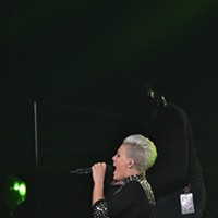 Pink performing at Quicken Loans Arena