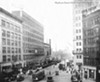 Playhouse Square during construction of the Allen Theatre, 1921