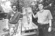 Prehistoric fish are biting for Gale (left) and Gall. - WALTER  NOVAK