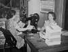 Preparing scorecards, 1940.