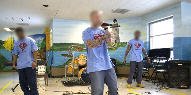 """Pictures From Inside Trumbull Correctional Institution's Music Program Read """"Live From Trumbull Correctional: The Prison Bands Plugging In And Playing Behind Bars,"""" by Eric Sandy. Doug Brown/Cleveland Scene"""
