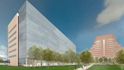 Rendering of the new building - CLEVELAND CLINIC