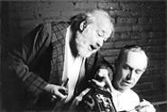 Reuben Silver (with Allan Byrne, right) as Davies, likely the darkest role of - the actor's career.