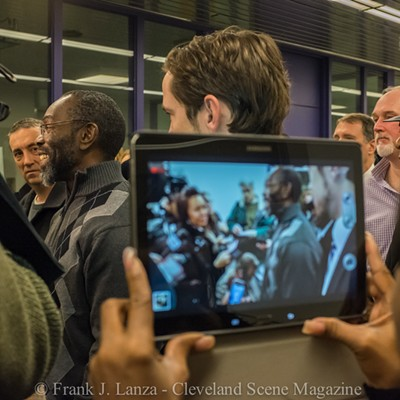 Ricky Jackson, Kwame Ajamu and Wiley Bridgeman on their Day of Exoneration