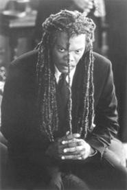 Samuel L. Jackson plays Romulus Ledbetter in - The Caveman's Valentine.