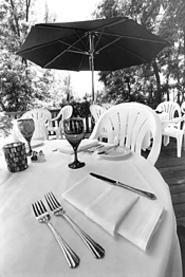 Sapphire's outdoor dining room, well hidden from the - bustle of Solon. - WALTER  NOVAK
