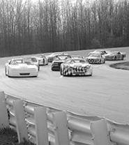 Saturday rush hour at Lorain County Speedway.