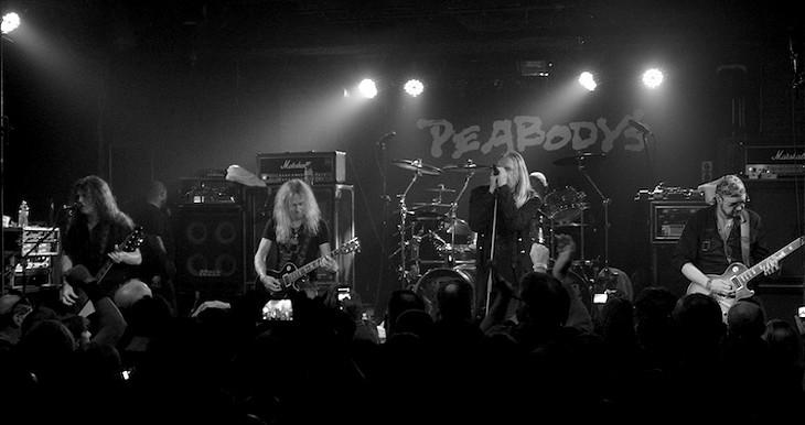 Saxon performing at Peabody's