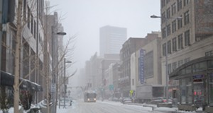Scenes From A Snowstorm: Downtown Cleveland on Thursday Afternoon