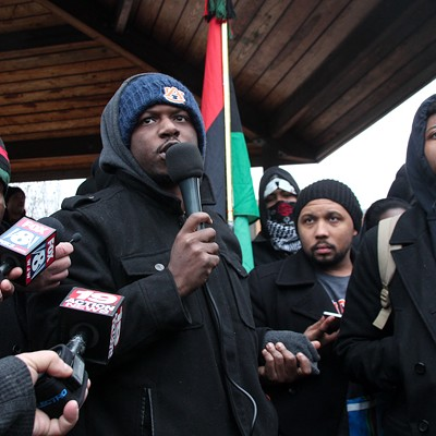 "Scenes from the ""Ferguson2CLE"" Protests Dec. 20"