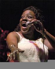 Sharon Jones at the Dap-Kings' December 29 Beachland show. - WALTER  NOVAK
