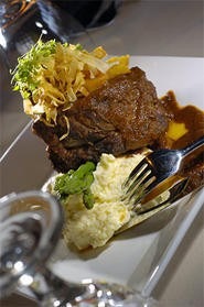 Short ribs at Thyme: It's comfort food for cool palates. - WALTER  NOVAK