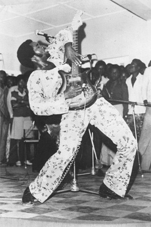 Sir Victor Uwaifo shows Jimi Hendrix how it's done.