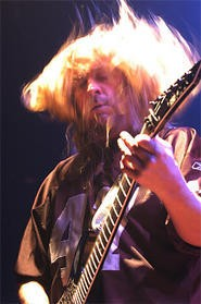 Slayer's  Jeff Hanneman, last week at the House of Blues. - WALTER  NOVAK