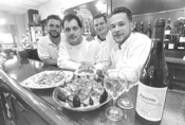 Some of the friendly folk and fine fare at Bruno's. - WALTER  NOVAK