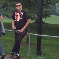 16 Swagalicious Shirts of Mall Guy Sometimes, he hangs out on railings. Photo Courtesy of Danielle Honsaker via Instagram