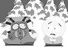 South Park's Cartman instructs Butters on anti-terrorist measures.