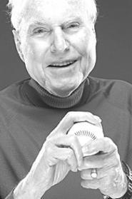 Sportswriter Hal Lebovitz has a ball.