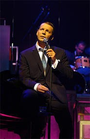 Stephen Triffitt croons like the real thing in The Rat Pack: Live at the Sands.