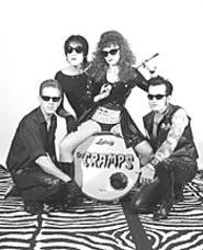 Surprisingly, Cramps frontman Lux Interior (second - from left) was not born sporting lam undies and a - pompadour.