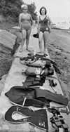 Swimmers with gear, 1963.