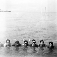 15 Vintage Cleveland Beach Photos Swimming at Euclid Beach, 1920s.