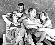Taking a break from the battle of the sexes: The casts - of Summer Evening and What Is Making - Gilda So Gray?, playing at Cesears Forum - through July.