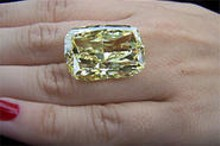 The $9 million, 43-carat Golden Eye, now property of the feds.