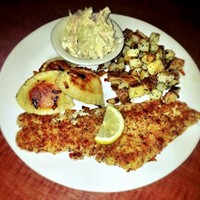 10 Cleveland Fish Fries Worth a Visit this Season The Anti-Fish Fry: no fryers needed here. Grumpy's serves up a lightly breaded and grilled haddock along with herb roasted potatoes, and Southwest slaw. Add pierogies for $2 more. Served every Friday through Lent. Photo via the Cleveland Scene Archives