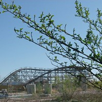 15 Photos of Abandoned Geauga Lake Amusement Park The Big Dipper roller coaster Photo via Jeremy Thompson, Flickr Creative Commons