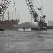 The Biggest Wind Turbine in North America Arrives in Cleveland