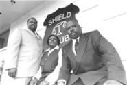 The Black Shield brain trust: Vice presidents Dalton - Preston and Juanita Black, and President Lem - Griffin. - WALTER  NOVAK