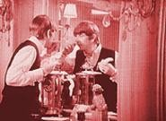 """The Burn"" (detail), by Michael Dee, still frame from the Beatles' A Hard Day's Night."