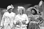 The cast of Crowns keep a lid on it: Wanda - (Chaundra Cameron, left), Mother Shaw (Queen - Esther Marrow), and Velma (Angela Gillespie - Winborn).