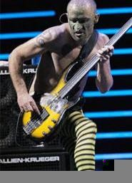 The Chili Peppers' Flea, Halloween Night at Quicken Loans Arena. - WALTER  NOVAK