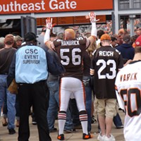 The Recent History Of The Cleveland Browns Told In 15 Now-Obsolete Jerseys The Cleveland Browns signed free agent Darren Hambrick before the 2002 season to replace injured linebacker Jamir Miller. He was arrested that October and cut within a year (and later arrested for rape). This guy is in his full uniform. Doug Brown/Cleveland Scene