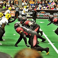 Friday, May 23: Soul Crushers The Cleveland Gladiators are dominating the Arena Football League, folks. Though the AFL doesn't have the following of the NFL (YET!!!) the Gladiators are 7-0 and, along with the Arizona Rattlers, are the only undefeated team in the country. Gladiator, of course, is now available instantly on Netflix, so it's reasonable to assume the team has been channeling Maximus in a pretty regular way. Tonight, they take on the Philadelphia Soul at the Quicken Loans Arena. With a 50-yard field, look for lots of touchdowns, athletic interceptions and crazy trick plays. Tickets starts at $10 — incredible bang for your buck. (Sam Allard) Photo via Cleveland Scene Archives