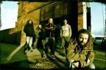 The cold concrete truth of In Flames (from left: Bjrn Gelotte, Peter Ivers, Jesper Strmblad, Daniel Svensson, and Anders Fridn).