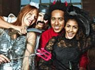 The freaks come out at night. Saturday night, that is, for Halloween-costume contests.