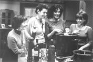 The girls: Knight, Young, Ruehl, and Manoff (from - left).