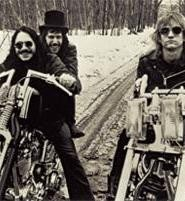 The James Gang, 1970 (from left): Jim Fox, Dale Peters, and Joe Walsh.
